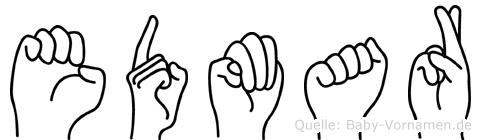 Edmar im Fingeralphabet der Deutschen Gebärdensprache