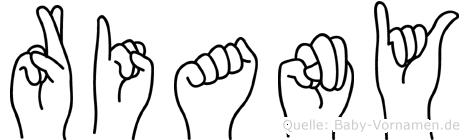 Riany in Fingersprache für Gehörlose