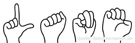 Lane im Fingeralphabet der Deutschen Gebärdensprache
