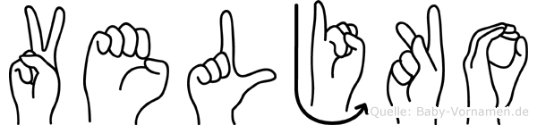Veljko in Fingersprache für Gehörlose