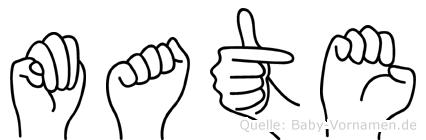 Mate in Fingersprache für Gehörlose