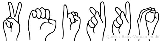 Veikko im Fingeralphabet der Deutschen Gebärdensprache