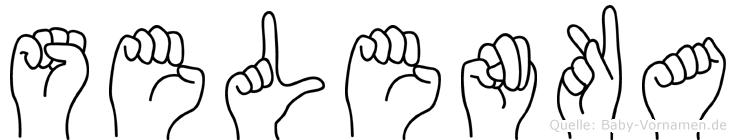 Selenka in Fingersprache für Gehörlose