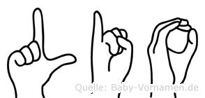 Lio in Fingersprache für Gehörlose