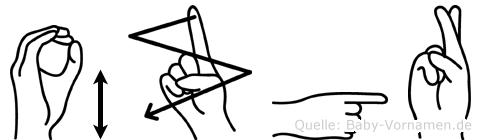 Özgür in Fingersprache für Gehörlose