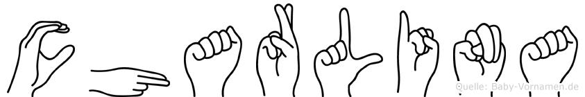 Charlina im Fingeralphabet der Deutschen Gebärdensprache