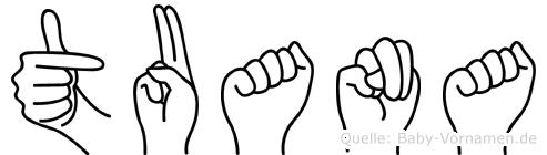 Tuana im Fingeralphabet der Deutschen Gebärdensprache