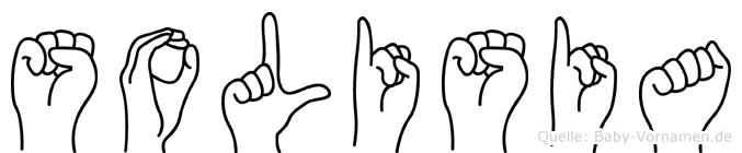 Solisia im Fingeralphabet der Deutschen Gebärdensprache