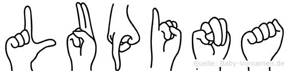 Lupina im Fingeralphabet der Deutschen Gebärdensprache