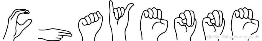 Chayenne in Fingersprache für Gehörlose