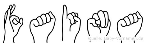 Faina in Fingersprache für Gehörlose