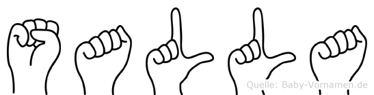 Salla im Fingeralphabet der Deutschen Gebärdensprache