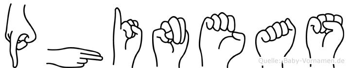 Phineas im Fingeralphabet der Deutschen Gebärdensprache
