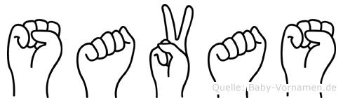 Savas in Fingersprache für Gehörlose