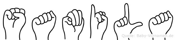 Samila im Fingeralphabet der Deutschen Gebärdensprache