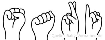 Sari im Fingeralphabet der Deutschen Gebärdensprache