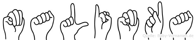 Malinka in Fingersprache für Gehörlose