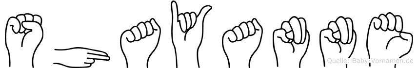 Shayanne in Fingersprache für Gehörlose