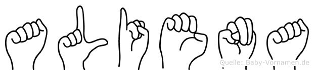 Aliena in Fingersprache für Gehörlose