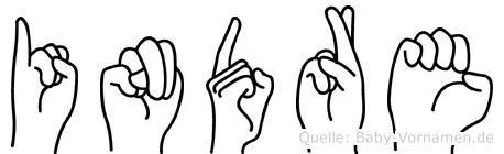 Indre in Fingersprache für Gehörlose