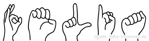 Felia in Fingersprache für Gehörlose