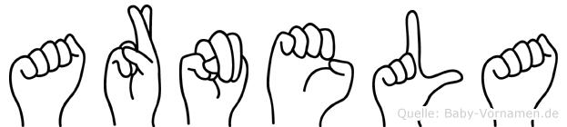 Arnela in Fingersprache für Gehörlose