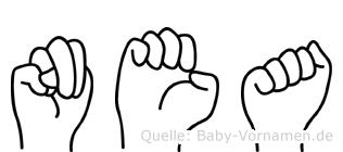 Nea im Fingeralphabet der Deutschen Gebärdensprache