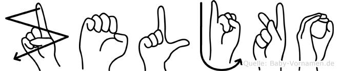 Zeljko im Fingeralphabet der Deutschen Gebärdensprache