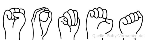 Somea im Fingeralphabet der Deutschen Gebärdensprache