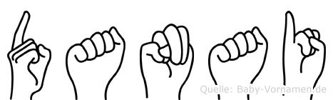 Danai im Fingeralphabet der Deutschen Gebärdensprache