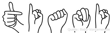 Tiani in Fingersprache für Gehörlose