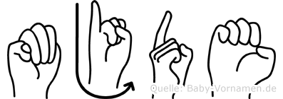 Müjde in Fingersprache für Gehörlose