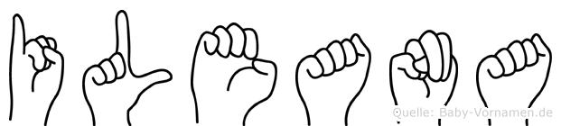 Ileana im Fingeralphabet der Deutschen Gebärdensprache
