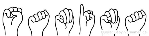 Samina im Fingeralphabet der Deutschen Gebärdensprache