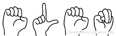 Elen im Fingeralphabet der Deutschen Gebärdensprache