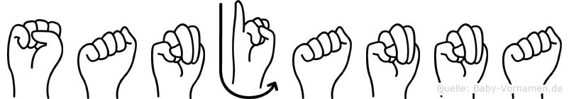 Sanjanna in Fingersprache für Gehörlose