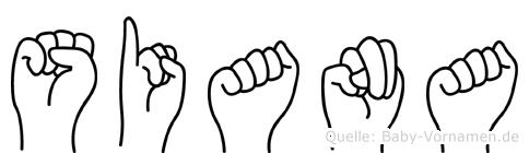 Siana in Fingersprache für Gehörlose