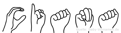 Ciana im Fingeralphabet der Deutschen Gebärdensprache