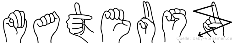 Mateusz im Fingeralphabet der Deutschen Gebärdensprache