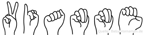Vianne im Fingeralphabet der Deutschen Gebärdensprache