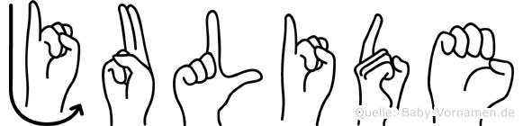 Julide in Fingersprache für Gehörlose