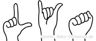 Lya im Fingeralphabet der Deutschen Gebärdensprache