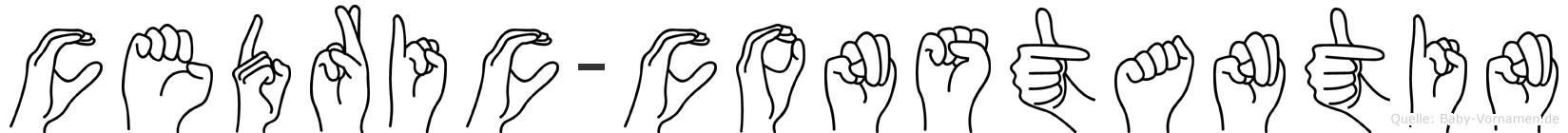 Cedric-Constantin im Fingeralphabet der Deutschen Gebärdensprache
