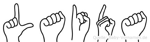 Laida in Fingersprache für Gehörlose