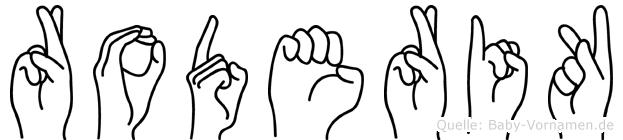 Roderik in Fingersprache für Gehörlose