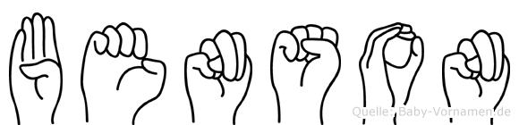 Benson in Fingersprache für Gehörlose