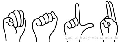 Malu in Fingersprache für Gehörlose