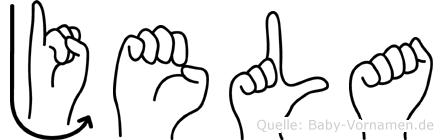 Jela im Fingeralphabet der Deutschen Gebärdensprache