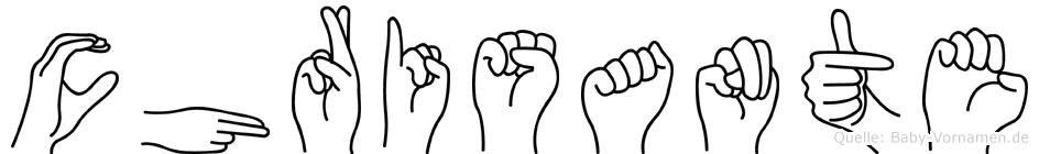 Chrisante in Fingersprache für Gehörlose