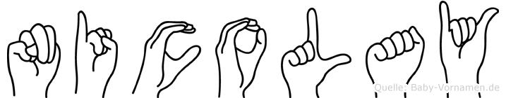 Nicolay in Fingersprache für Gehörlose